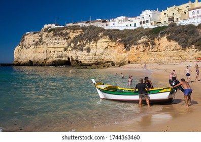 The Beach at Carvoeiro, Algarve, Portugal. 11th October 2013