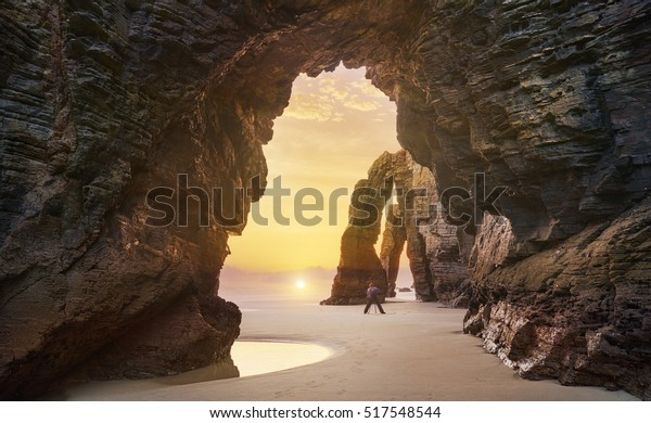 Beach of the cathedrals, Praia As Catedrais, Ribadeo, Spain