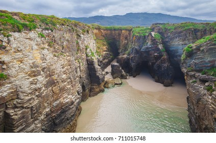 Beach of the Cathedrals in Ribadeo, Galicia, Spain.