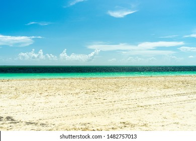 Beach in Cayo Guillermo, Cuba. A beautiful paradise with cristal water and white sand.