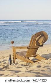 Beach Chair Adirondack Chair Beach Scene