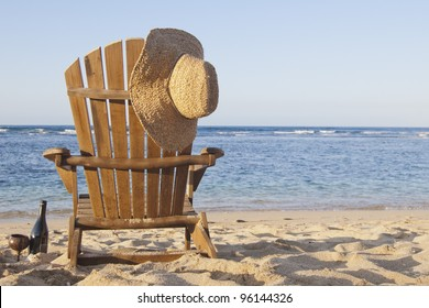 Beach Chair Adirondack Chair Beach Scene