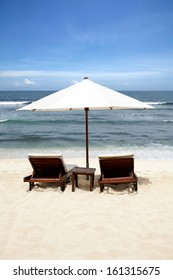 Beach Chair at Bali Island, Indonesia