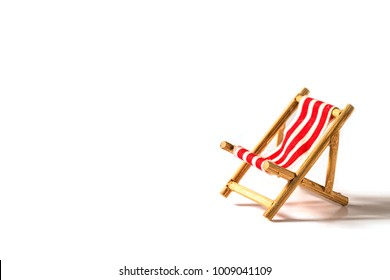 beach chair isolated on white background.