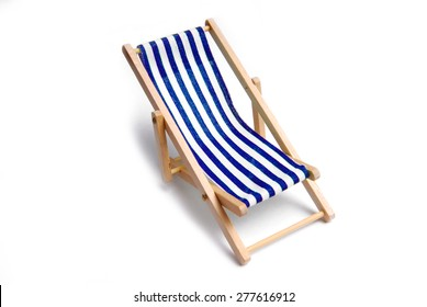 beach chair isolated on white