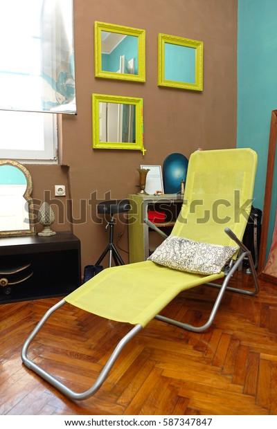 Beach Chair in Modern Home Interior
