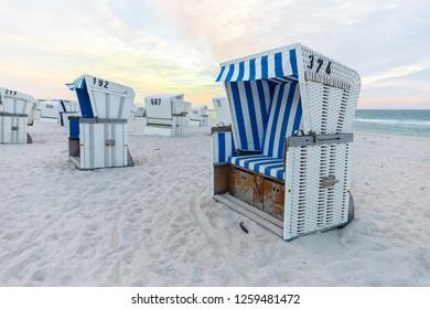 Beach chair, Sylt, Germany