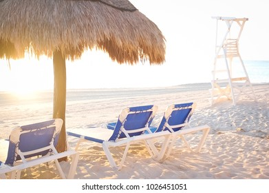 Beach Chairs by the Ocean