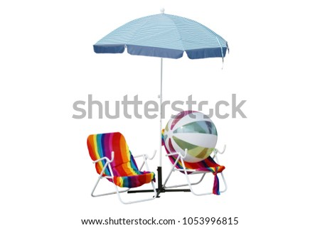 Incredible Beach Chairs Colorful Towels Beach Ball Stock Photo Edit Caraccident5 Cool Chair Designs And Ideas Caraccident5Info