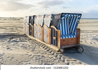 Beach chairs at the North Sea
