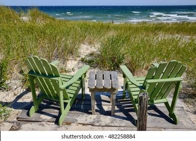 Beach Chairs over looking Ocean