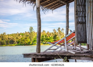 Beach chairs in resort hut - Koh Mak, Trat Thailand