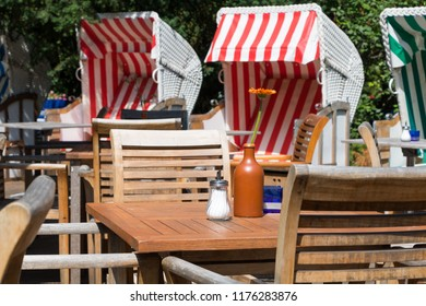 Beach Chairs, a street cafe in Berlin Germany