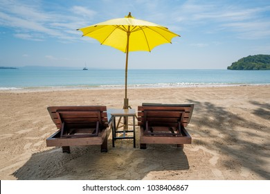 Beach Chairs and Umbrella on summer island in Phuket Thailand. Summer Travel & Beach Chair Umbrella Stock Photos Images u0026 Photography | Shutterstock