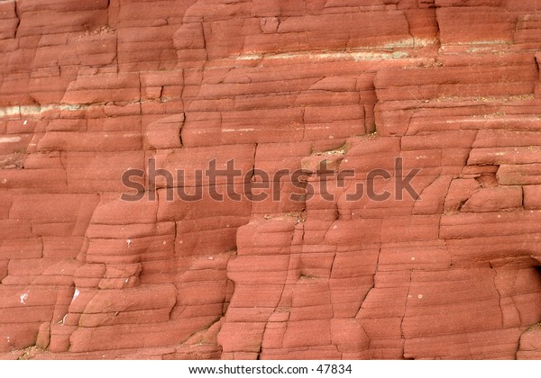 A beach cliff face. Would make an ideal background.