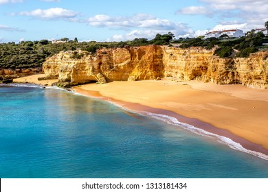 Beach and cliffs of Senhora da rocha, in Lagoa, Algarve, Portugal