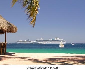 Beach club in Cabo San Lucas / Mexico
