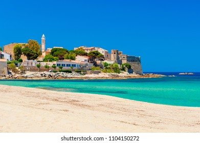 Beach and Coastline of Algajola Corsica France