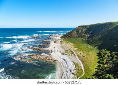Beach and coastline near Kaikoura on the South Island of New Zealand