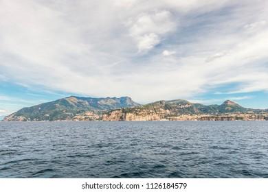 Beach and coastline in Sorrento, Italy