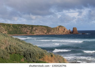 Beach coastline of southern Australia. Bass coast region near Melbourne.