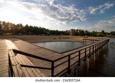 Beach complex in Bondary during Summer vacation