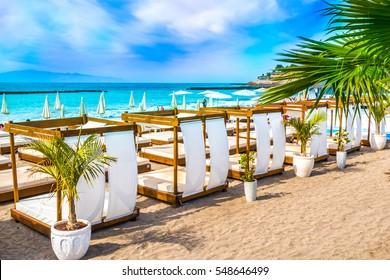 Beach in Costa Adeje, Tenerife, Canary Islands, Spain