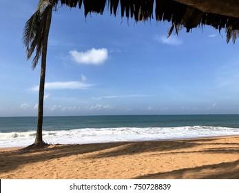 The beach in Cotonou, Benin
