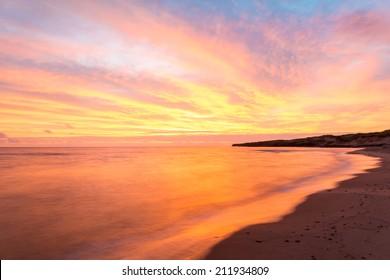 Beach at the crack of dawn (Green Gables Shore, Prince Edward Island, Canada)