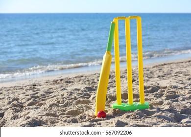Beach Cricket A great summer activity.