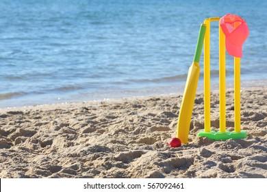 Beach Cricket  Women in sport.
