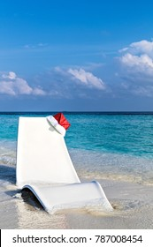 Beach for deep relax on a Christmas, Maldives, The Indian Ocean