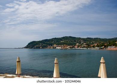 Beach at Diano Marina in Italy