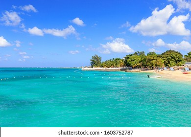 Beach at Doctor's cave in Montego Bay Jamaica