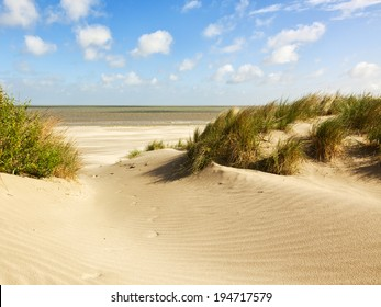 Beach and dunes at Knokke-heist, Belgian north sea coast