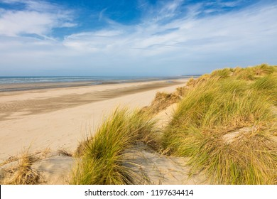 Beach and dunes of Le Touquet-Paris Plage, French North Sea coast