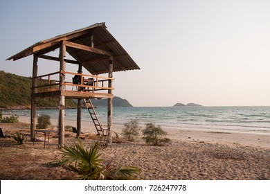The Beach in Easter of Thailand.