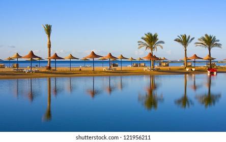 Beach, Egypt .