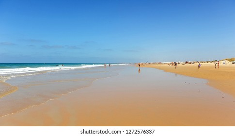 Beach of El Palmar in Conil de la Frontera, a town famous for its beaches on the coast of Cadiz, Andalusia, Spain