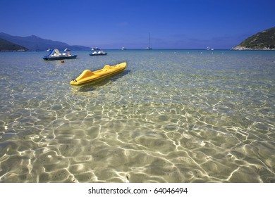 beach in Elba Island