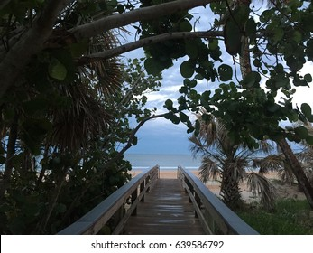 Beach entrance after a storm