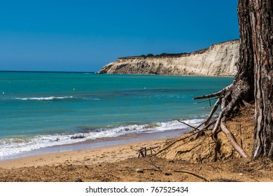 Beach of Eraclea Minoa in Sicily Italy