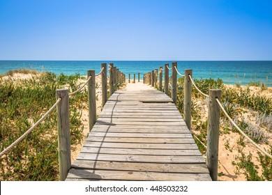 Beach of Faro, Algarve, Portugal