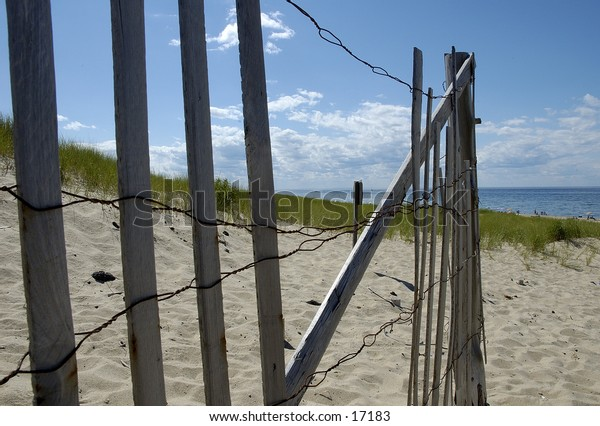 Beach Fence on the cape. A typical cape cod scene