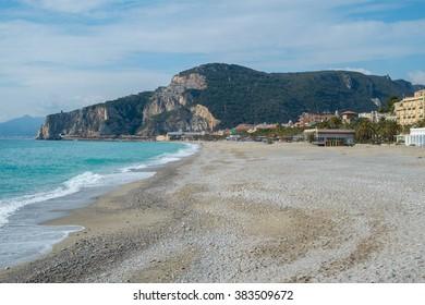 The beach of Finale Ligure