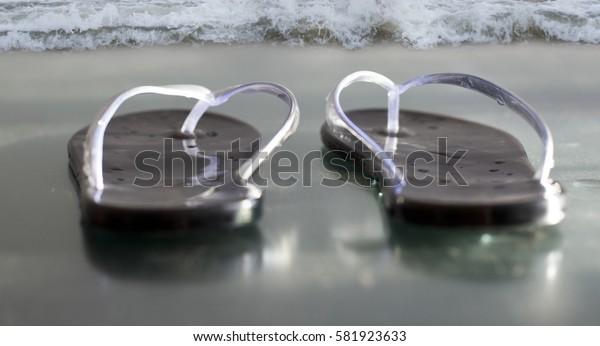 Beach. flip-flops.