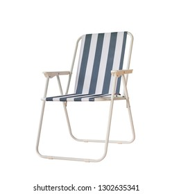 Beach folding chair isolated on white background,Clipping path