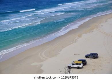 Beach in Fraser Island, Queensland, Australia