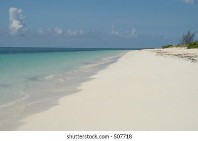 Beach in Freeport, Bahamas islands