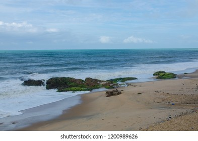 A beach in front of Cape Castle, Cape Coast, Ghana.